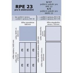 RPE 23 pro 6 elektroměrů